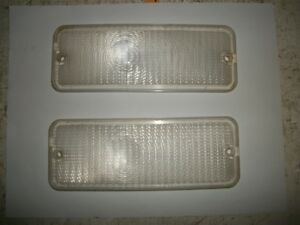 73 74 Ford Truck Clear Front Turn Signal Marker Light Lens Set F150 F250 75 76