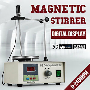 85 2 Magnetic Stirrer With Heating Plate Digital Hotplate Mixer Combo Good