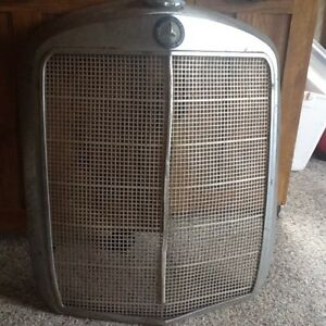 Vintage Mercedes Benz 220 Radiator Grill Shell Rare 1960 s Chrome 4 Bar Nice