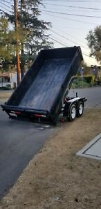 Dump Trailer 6x12 2 Ft High Dual Axel used Good Condition