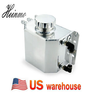 Universal 1l Aluminium Alloy Oil Catch Can Breather Tank Reservoir W Drain Plug