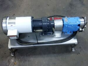 Waukesha Model 022 Positive Displacement Pump Stainless Steel Sanitary