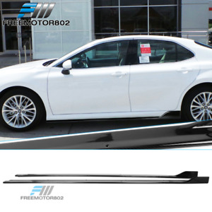 Fits 18 20 Toyota Camry Side Skirts Extension Left Right Carbon Fiber Print