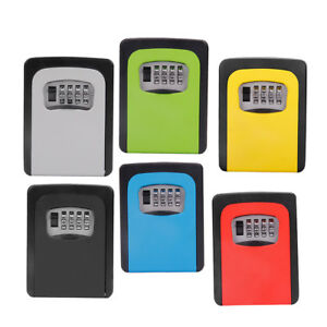 6x Wall Mount Key Box 4 Digit Combination Home Security Lock Safe Storage