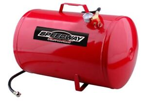 10 Gallon Air Tank Metal Portable Red 4 Foot Air Hose Emergency Relief Valve New