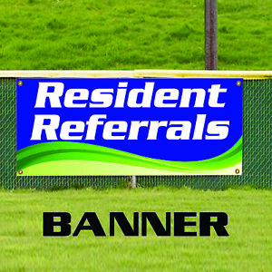 Resident Referrals Residential Business Advertising Outdoor Vinyl Banner Sign