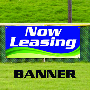 Now Leasing Business Advertising Outdoor Vinyl Banner Sign