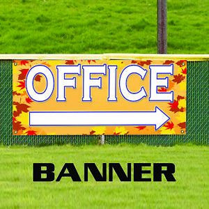 Office With Right Arrow Commercial Business Outdoor Vinyl Banner Sign