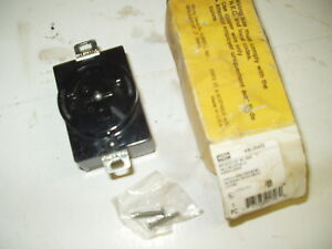 New Hubbell Hbl20403 Hubbellock 30 amp Receptacle 30a 600v 3p 4w Hbl21415b 20403