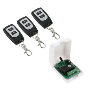 12v Remote Control Switch wireless 3 Rf Relay Transmitters 1 Receiver Module