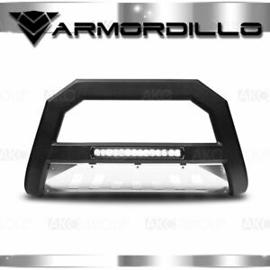 For 2007 2014 Chevy Avalanche Ar Series Bull Bar W Led Bull Guard W Skid Plate