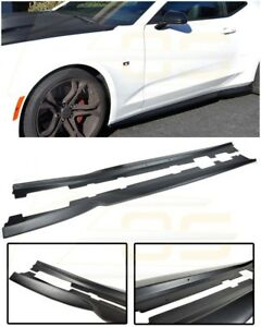 For 16 Up Camaro Ss Rs T6 Style Abs Plastic Side Skirts Rocker Panel Extension