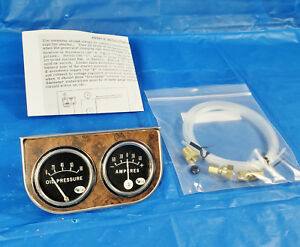 Vintage Leece Neville Dual Gauge Panel Original 1960s Era Oil Amp Gauges Hotrod