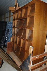 Vintage Quartersawn Oak 25 Drawer File Cabinet Out Of Uw Milwaukee Library 7 X7