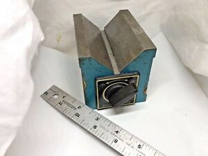 Magnetic V block 3 15 16 X 3 1 8 X 3 Grinding Machinist Tool Free Shipping