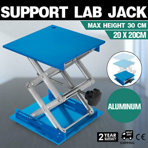 20x20cm Stainless Steel Lifting Platforms Stand Rack Scissor Lab Jack Us