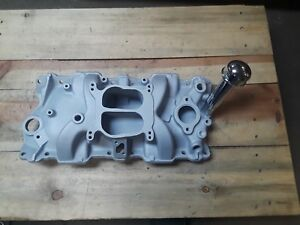 Early Looking Stealth Undercover Aluminum 4bbl W Oil Fill Tube Intake Manifold