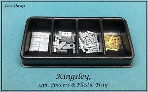 Kingsley Machine 12pt Spacers Plastic Tray Hot Foil Stamping Machine