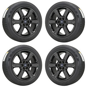 22 Ford Expedition F150 Black Chrome Wheels Rims Tires Factory Oem Set 10200