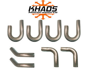 Khaos Motorsports Aluminized Steel Custom Header Kit Header Repair 1 75 1 3 4