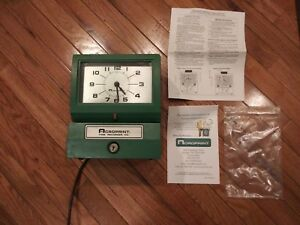 Acroprint Time Recorder Model 125nr4 Time Clock With Key And Manuals