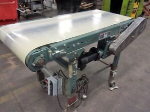 24 Inch X 60 Inch Hytrol Belt Conveyor Vari Speed 110 Volt Nice