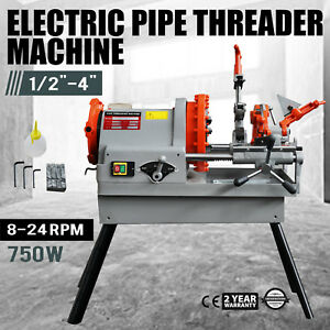 Electric Pipe Threading Machine 1 2 4 Npt Deburrer Quick Opening Oil Can