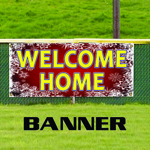 Welcome Home Christmas Real Estate Outdoor Vinyl Banner Sign