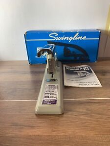 Vintage Swingline Heavy Duty Stapler 113 With Box And Instructions