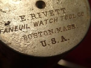Vintage Watchmakers Rivett Boston U s a Lathe Tool Set See Pictures