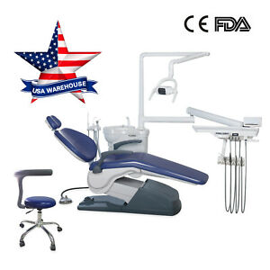 Us Dentist Chair Unit Computer Controlled Dc Motor W Mobile Dental Stool Fda Ce