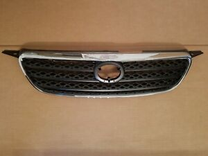 Fits 2005 2008 Toyota Corolla Front Bumper Grille W Chrome Trim Surround New