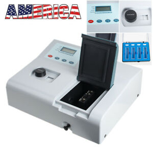 Visible Uv Lab Digital Spectrophotometer 721 Ldc 350 1020nm Tungsten Lamp Usa Ce
