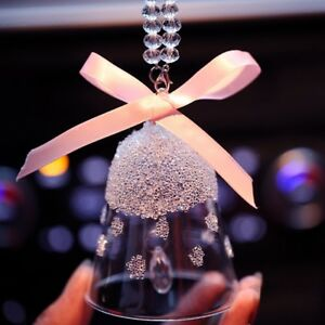 Crystal Campanula Car Hanging Pendant Decoration Ornaments Christmas Gift