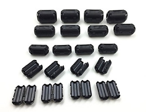 20 Pcs Ferrite Core Cord Ring Rfi Emi Noise Filter Cable Clip For 3 5mm 5mm 7