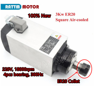 3kw Air Cooled Spindle Motor Er20 18000rpm Cnc Router Engraving Milling Machine