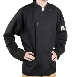 J030bk l Chef Revival Chef tex Poly cotton Traditional Chef Jacket Size L