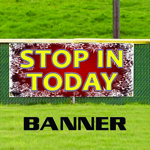 Stop In Today Christmas Business Advertising Outdoor Vinyl Banner Sign