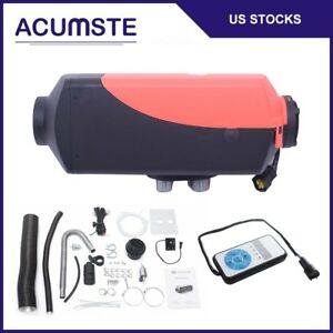 Air Diesel Fuel Heater 5kw 12v Silencer Switch For Car Truck Motor Home Boat