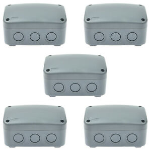 5pk 125x86x62mm Waterproof Junction Box Cable Terminal Wire Case Protective Ip66