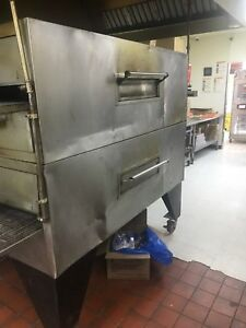 Mastermatic Blodgett Mg 32 2 32 Double Deck Conveyor Pizza Ovens Natural Gas