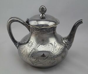 Antique Pairpoint Quadruple Silver Plated Teapot