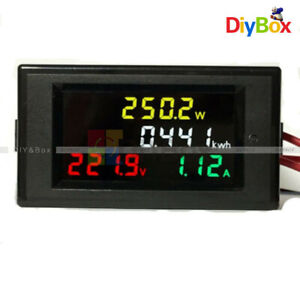 Ac 80 300v 200 450v 10a Voltmeter Ammeter Led Digital Power Detector Volt Meter