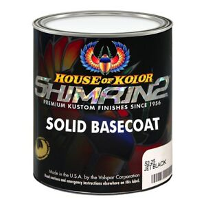 House Of Kolor S225 Jet Black Shimrin2 Solid Basecoat Gallon