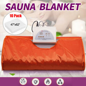 Sauna Blanket Far Infrared Fir 2 Parts Weight Loss Detox Slimming Spa Machine