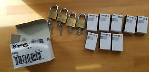 Pack Of 13 Keyed Padlock Keyed Alike 1 1 2 w Master Lock V line 4140ka New