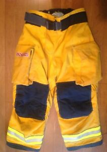 Globe Gxtreme Firefighter s Turnout Pants Yellow 36x28 6 2008 Used