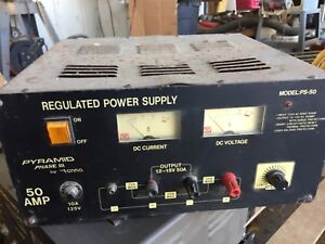 Pyramid Phase Iii Bench Power Supply Ac to dc Power Converter 50 Amp Ps 50