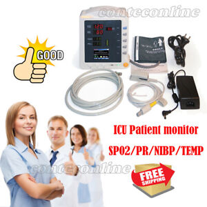 New Cms5100 Contec Vital Signs Monitor Ccu Icu Patient Monitor Nibp Spo2 Temp