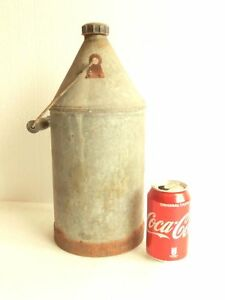 Antique Vintage Galvanized 1 5 Gallons Milk Pail Can Jug Bucket W Cap